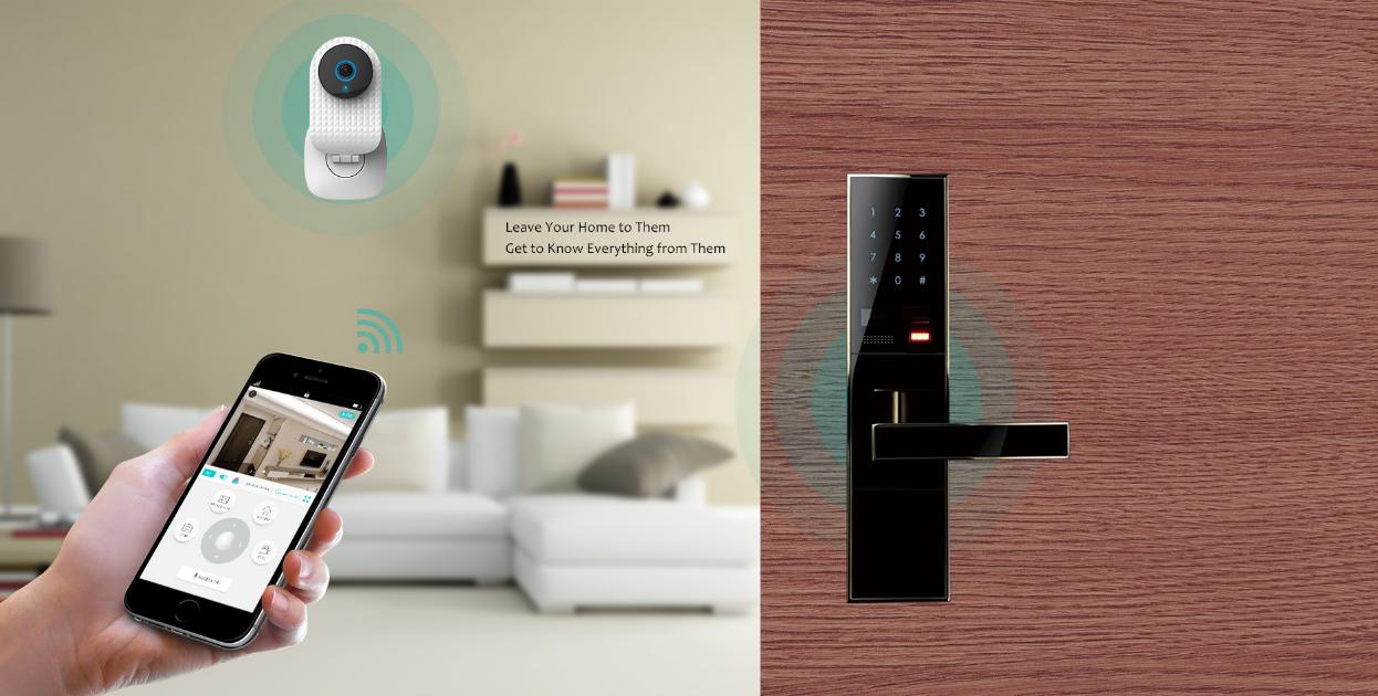 smart doorlock pack - camera and doorlock