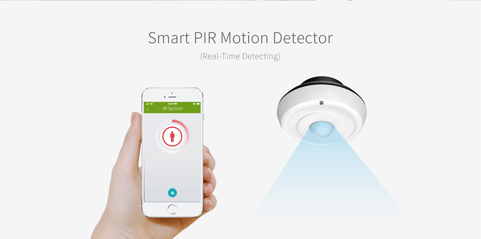 Smart motion detector and smartphone app