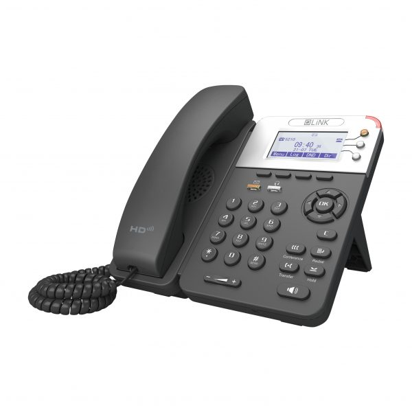 LiNK V208 VoIP Phone with 3 SIP Perspective Front View