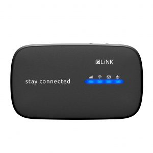 LiNK R78 MiFi Pocket Router, Black colour front view