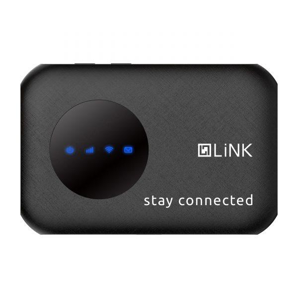 LiNK R80 MiFi Pocket Router, Black colour front view