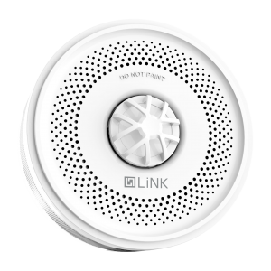 smart heat detector and alarm in white colour - front view